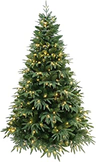 HOLIDAY STUFF 7 Feet Rich Green Fraser Fir Artificial Christmas Tree Pre-lit with LED Lights (7 ft Pre-lit)