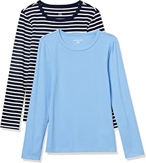 Women's 2-Pack Slim-Fit Long-Sleeve Crewneck T-Shirt