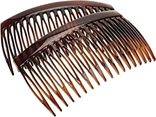 France Luxe 18 Tooth French Side Comb Pair - Tortoise