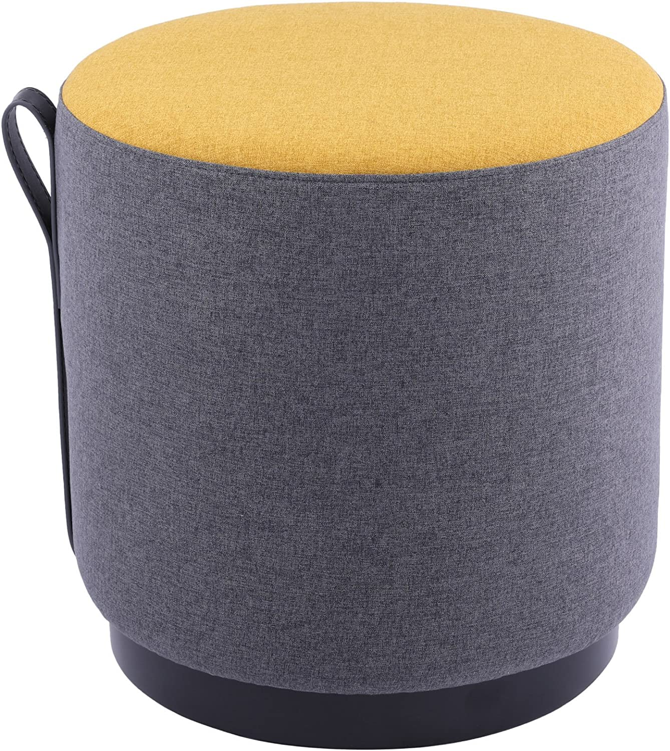 Sunon Round Pouf Ottoman Wooden Stool Clearance SALE Now on sale Limited time Leg Dia17x Small
