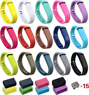 I-SMILE 15PCS Replacement Bands with Metal Clasps for Fitbit Flex/Wireless Activity Bracelet Sport Wristband(No Tracker,  Replacement Bands Only)