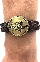 TimeLogo Leather Bracelet for Men Women Girls Jewelry Constellation Braided Rope Bracelet Multilayer Adjustable Bangle Wrist Cuff Wristband Birthday Gift (Aquarius)