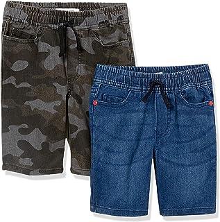Marca Amazon - Spotted Zebra Paquete de 2 Pantalones Cortos de Mezclilla. - denim-shorts Niños