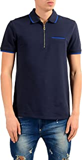 Versace Collection Men's Blue Short Sleeve Polo Shirt US XL IT 54