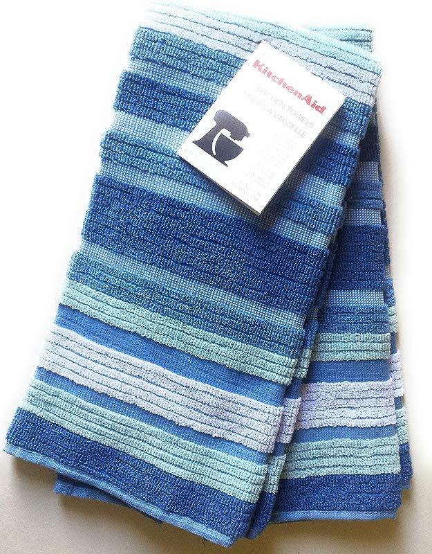 KitchenAid 2 Deluxe Evening Blue Cornflower Towels