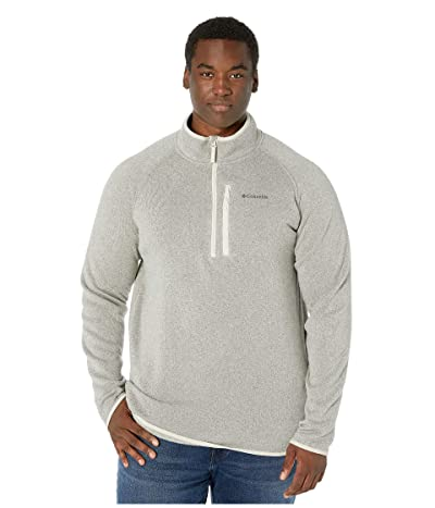 Columbia Big Tall Canyon Pointtm Sweater Fleece 1/2 Zip (Dark Stone) Men