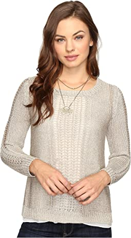 Metallic Mixed Sweater