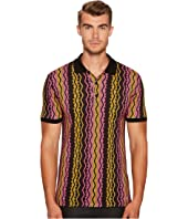 Versace Collection - Vertical Chain Print Polo