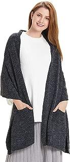 Women Warm Pashmina Shawl Wrap Winter Soft Cashmere Scarf with Pockets