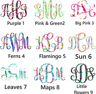 monogram decal - More Prints - Fire and Ice cups - Yeti, Rtic, SIC, car decal