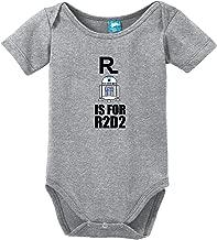 Sod Uniforms R is for R2 D2 Printed Infant Bodysuit Baby Romper