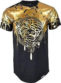 brand Mens Hipster Hip-Hop Premiun Tees - Stylish Longline Latest Fashion Print T-Shirts