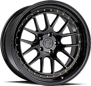AodHan DS06 Wheel - Gloss Black W/Gold Rivets: 19x9.5 Wheel Size; 5x114.3 Lug Pattern; 73.1mm Hug Bore; 22mm Off Set.