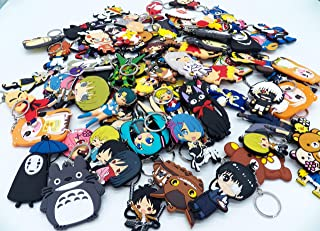 ASSORTED Anime Characters PVC Rubber Key Chain Key Ring ~ ANY 5 ~ US Seller~