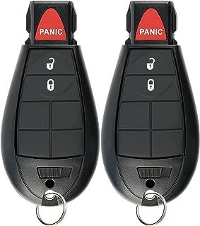 KeylessOption Keyless Entry Remote Car Key Fob Alarm for Dodge Ram, Jeep Cherokee GQ4-53T (Pack of 2)