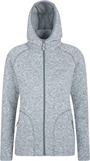 Mountain Warehouse Nevis Full Zip Womens Fleece Jacket - Lightweight Autumn Coat, Pockets, Breathable Ladies Jacket, Compa...