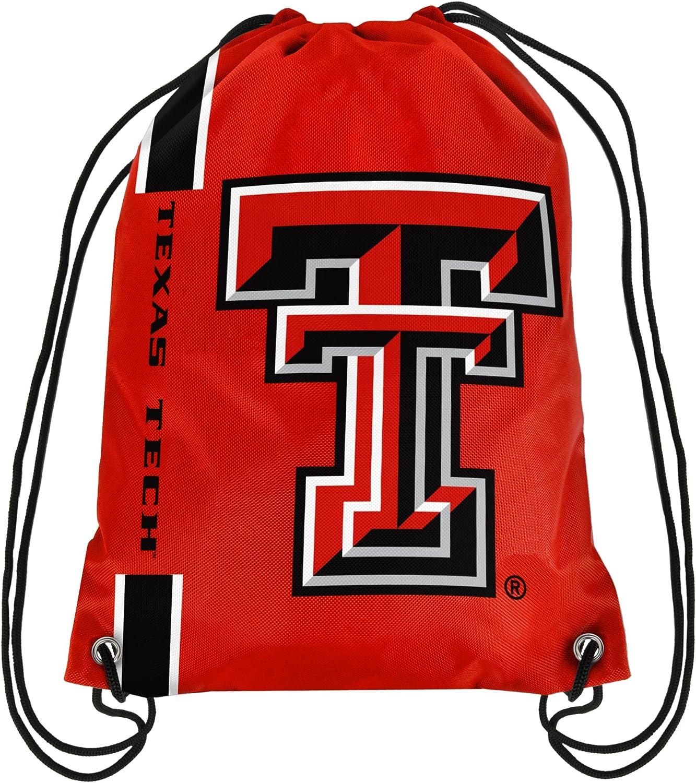 Texas Tech Max 70% OFF Red Raiders NCAA Big Drawstring Max 52% OFF Logo Backpack