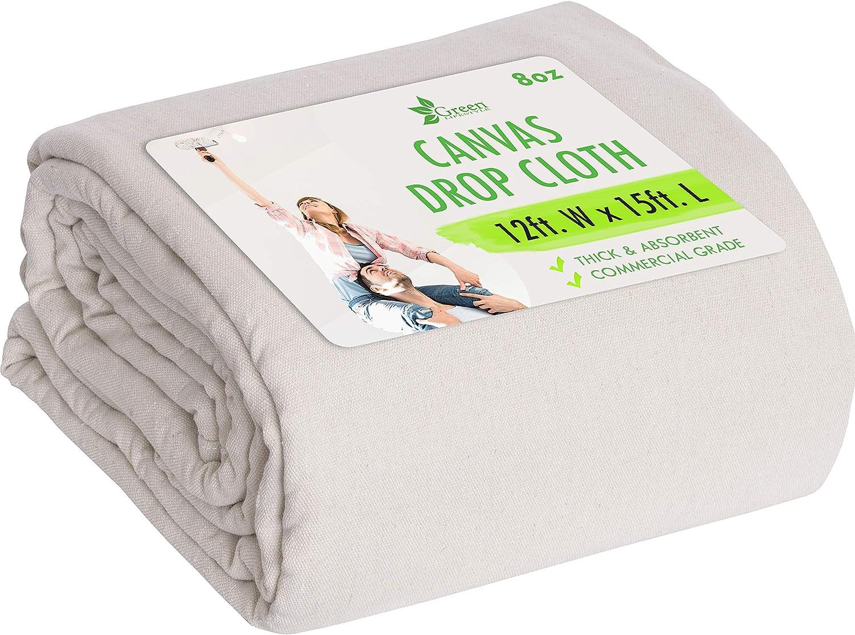 Drop Cloth Canvas Drop Cloth 9x12 Canvas Tarp Canvas Fabric Drop Cloth Curtains Drop Cloths for Painting Painters Drop Cloth Paint Drop Cloth Paint Tarp Painting Supplies Canvas Sheet - -
