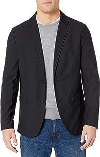 Kenneth Cole Men's Button Front Tech Blazer Jacket