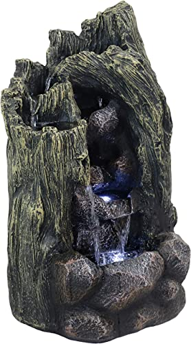 popular Sunnydaze Cavern of wholesale Mystery Outdoor Rock Water Fountain with LED Light - Glass Fiber Reinforced Concrete Construction - 28-Inch Tall - Electric Garden Fountain for Patio, Deck, Porch, lowest or Yard outlet online sale