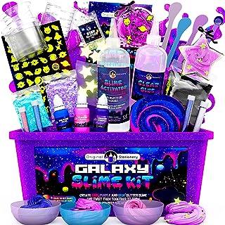 Original Stationery Galaxy Slime para Niños Kit Galaxy Slime Estrellas Que Brillan en la Oscuridad y Polvo de Slime para H...