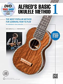 Alfred's Basic Ukulele Method 1: The Most Popular Method for Learning How to Play, Book, DVD & Online Video/Audio (Alfred's Basic Ukulele Library)