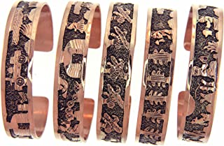 By Navajo Artist Elaine Becenti: Copper Story Teller Bracelet.