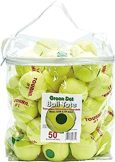 Tourna 加压绿点网球 50 球大手提袋 绿色圆点网球 加压