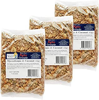 Granola Keto con Nueces de Macadamia y Coco sana y deliciosa