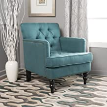 Christopher Knight Home Tufted Club, Decorative Accent Chair with Studded Details-Dark Teal