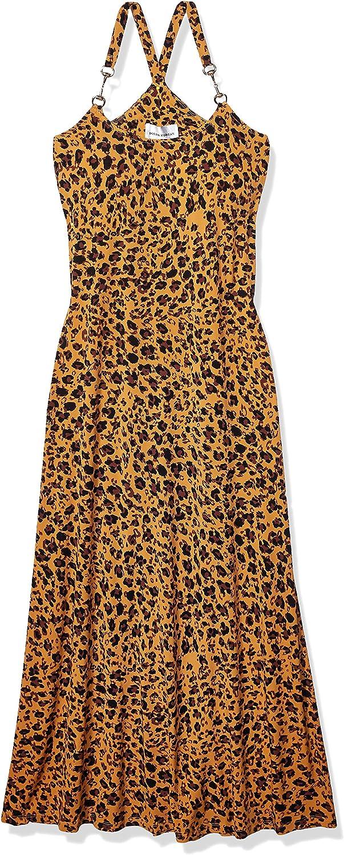 Donna Morgan Women's Spaghetti Strap Animal Print Maxi Dress