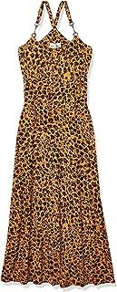 Donna Morgan womens Spaghetti Strap Animal Print Maxi Dress Dress