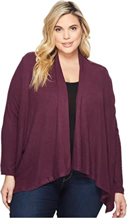B Collection by Bobeau Plus Size Amie Waterfall Cardigan