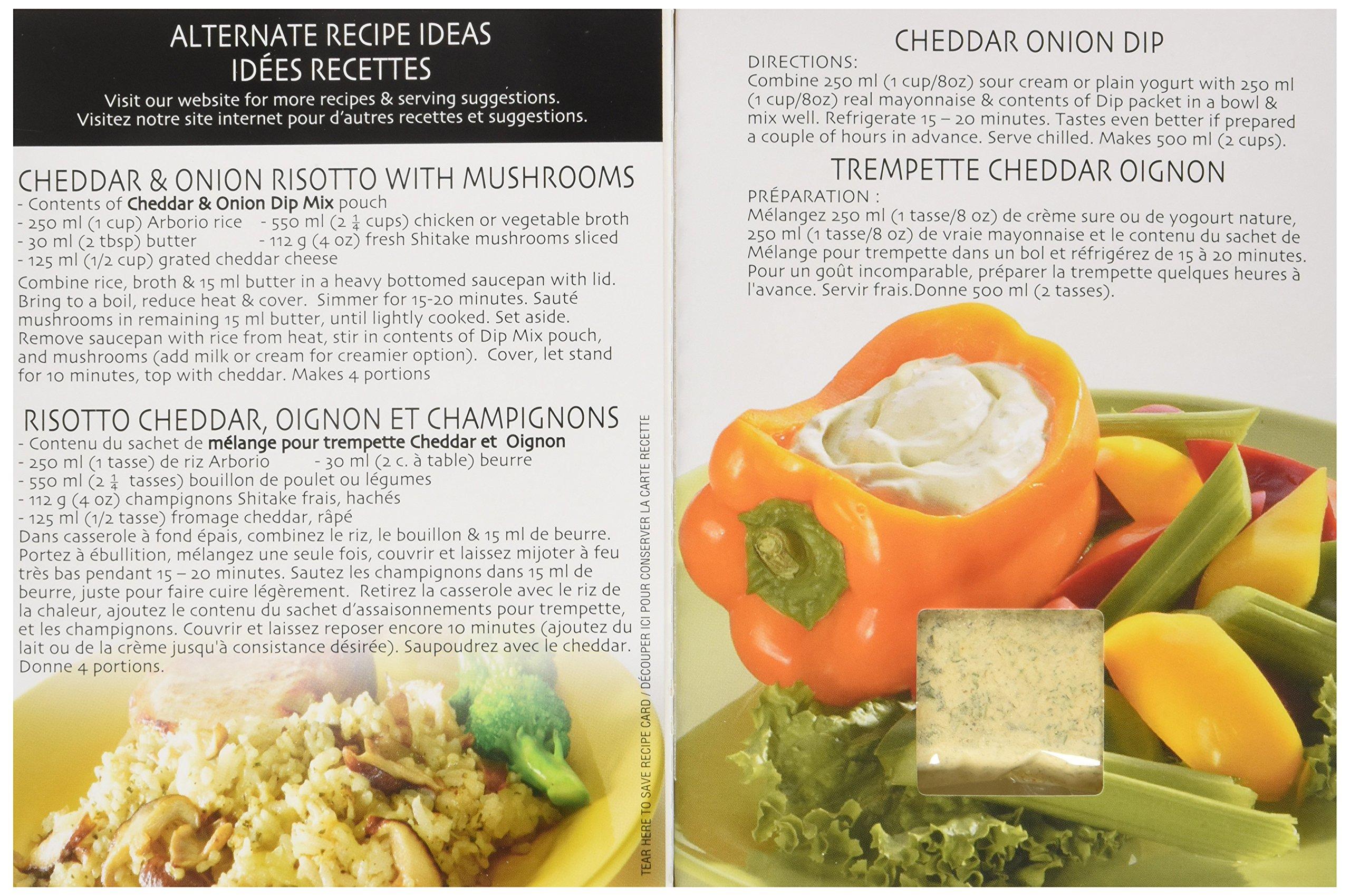 Gourmet Du Village mezcla de salsas Cheddar y cebollas: Amazon.es: Hogar