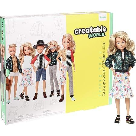 Creatable World Deluxe Character Kit Chestnut Brown Wavy Hair