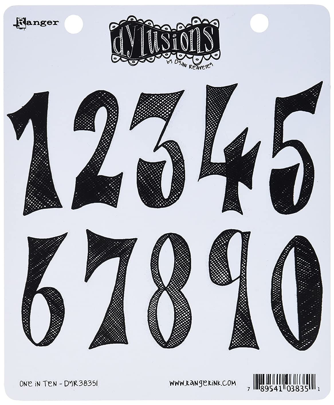 Ranger DYR-38351 Dyan Reaveley's Dylusions Cling Stamp Collections, 8.5 by 7-Inch, One in Ten