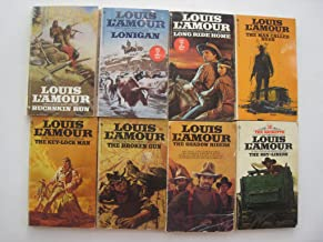 Set of 8 Louis L'Amour Westerns: The Sky-liners, The Shadow Riders, The BrokenGun, The Key-lock Man, The Man Called Noon, Long Ride Home, Lonigan, and Buckskin Run