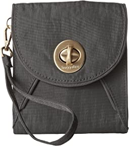 Gold Athens RFID Crossbody Wallet