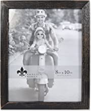 Lawrence Frames 8x10 Charlotte Weathered Black Wood Picture Frame