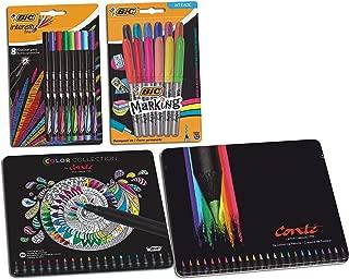 BIC Colouring Bundle Pens, Pencils, Markers & Fineliners – Pack 64