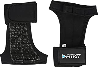 Fitkit Weight Lifting Gloves with adjustable strap, (Pair)