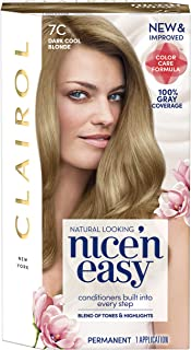 Clairol Nice 'n Easy Permanent Hair Color, 7C Dark Cool Blonde, 1 Count, Blondes