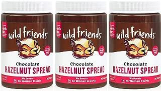 Wild Friends Foods Chocolate Hazelnut Spread, Gluten Free, Palm Oil Free, 16 Ounce (3Count)