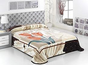 بطانية من طبقتين من الاكريليك فائقة النعومة مقاس كينغ 220 × 240 سم لون بني من مورا C08-33