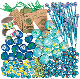 Fun Express Bulk Earth Day Toy Assortment (250 Pieces) Supplies and Party Favors