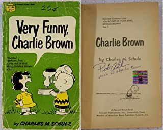 Peter Robbins Signed Very Funny, Charlie Brown Book OC Dugout Exclusive Auto