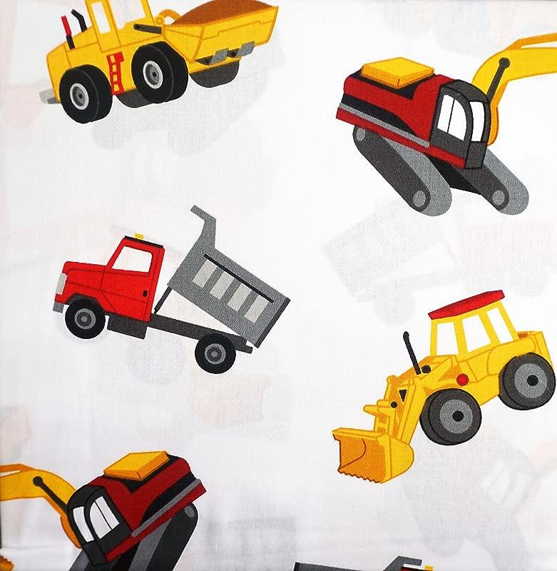 Boy Zone Construction Truck Sheet Set Twin Size