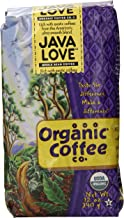 The Organic Coffee Co. Whole Bean, Java Love, 12 Ounce (Pack of 2)
