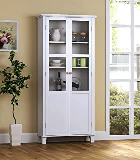 Best pantry cabinet with glass doors Reviews