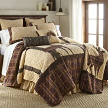 King Bedding Set - 3 Piece - Brown Antler Woods by Donna Sharp - Lodge Quilt Set with King Quilt and Two Standard Pillow Shams - Machine Washable